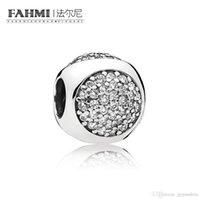 Fahmi 100% 925 Silver 1: Gioielli 1 originale 796214CZ autentico Temperamento Fashion Glamour retrò tallone sposa Donne