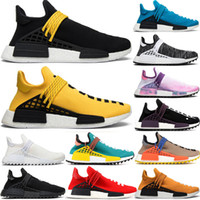 2019 Human Race TR Tennis Shoes Pharrell Williams Nerd Black Cream Holi Sample Yellow Mens Womens Outdoor Sports Designer Sneakers 36-47
