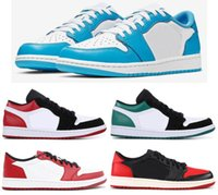 New SB 1 Low UNC Black Toe Mystic Green Bred Chicago Men Sho...