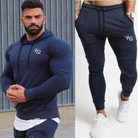 Men Tops And Pants Suit Casual Fashion Sportswear Sets Hoodi...