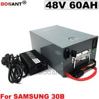 bir metal kutuda, Samsung ICR18650-30B 48V 60AH Elektrikli Bisiklet Pil 3000W e-bisiklet lityum iyon pil 13S 48V + 5A Şarj için