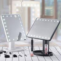 Hot 360 graus de rotação Maquiagem Espelho ajustável Tela 16/22 Leds LED iluminado portátil Luminous Cosmetic Espelhos SJ66