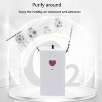 Tcenail Collier Pendants Personal USB Portable Purificateur d'air Wearable Mini ions négatifs Désodorisant Pas de rayonnement à faible bruit pour les adultes Enfants