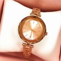 2019 relógio marca para a mulher famoso designer de mulheres de luxo relógio de quartzo de aço inoxidável dom natal aumentou relógio vestido de ouro de alta qualidade