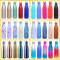 17oz 500ml Cola Water Bottle Shaped Double Insulated Vacuum Travel Water Bottle Creative Outdoors Sport Water Bottle 40 Designs BH2008 CY