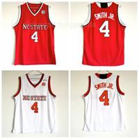 NCAA 대학 남자 농구 4 데니스 스미스 JR. 뉴저지 대학 노스 캐롤라이나 주립 조회 Wolfpack 유니폼 팀 레드 멀리 화이트 무료 배송