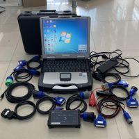 Dizel Kamyon Teşhis Tarayıcı Aracı Tam Set DPA5 Dearborn Protokol Adaptörü 5 Laptop ile CF-30 Dokunmatik Bilgisayar
