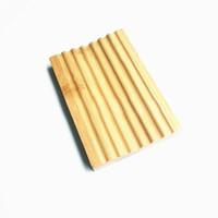 Tenedor de jabón de jabón de jabón de jabón de bambú natural Papel de almacenamiento Placa de estante Placa de recipiente para baño de ducha Baño ZC0043