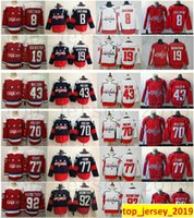 Capitals de Washington 8 Alex Ovechkin 19 Nicklas Backstrom 43 Tom Wilson 70 Braden Holtby 77 T.J. Oshie 92 Evgeny Kuznetsov Jerseys