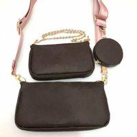Moda Ünlü Kadın Çantası Messenger Çanta Lüks Klasik Kozmetik Omuz Kız 3 Set Taşınabilir Çanta