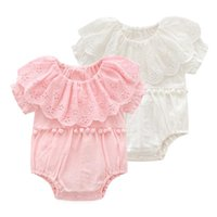 Baby Girl Clothes Pure Cotton Infant Girls Rompers Solid Flo...