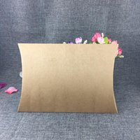 10pcs Big Size Kraft Paper Gift Box Blank Pillow Box Shape Wedding Favor Party Decor Christmas Gift Clothes Packaging