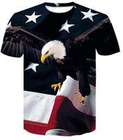 TOP 2019 Men Design Training New 3D Color Star Lettera American Flag Stampato Abbigliamento da uomo Manica corta T-shirt Casual Abbigliamento allentato Abbigliamento abbigliamento