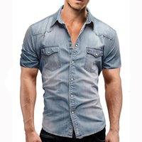 Men' s casual shirt slim fit men' s casual button sh...