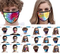 Fashion Ice Silk Printed Face Mask Tie- dre Dust- proof Mouth ...