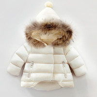 Chirstmas erkek sıcak dış giyim kız bebek F1549 giysi ceket çocuklar kürk kapüşonlu uzun kollu ceket üstleri kış çocuklar kalınlaştırmak düşmek faux kapitone