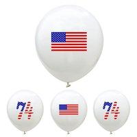 12 بوصة بالون الإمدادات الأمريكية الاستقلال الأمريكية 2020 ترامب الانتخابات اللوازم لنا العلم الطباعة حزب ديكورات شحن مجاني