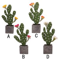 Simulated Potted Cactus Artificial Green Plant Potted Flower...