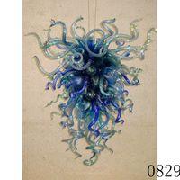 Nordic Designer azul lustre de vidro soprado designer italiano criativo bolha restaurante vidro restaurante LED lâmpadas penduradas
