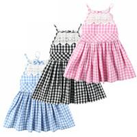 جديد أزياء اطفال بنات فساتين الأطفال الحمالة منقوشة الدانتيل القطن عارية الذراعين اللباس أزياء أطفال الملابس