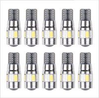 10pcs / lot Auto-weißes canbus T10 5630 6SMD W5W LED-Licht Canbus ERROR FREE-Birnen-Lampen-Keil-DIY
