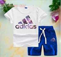 ADlDAS Little Kids Sets 1- 7T Childrens O- neck T- shirt Short ...