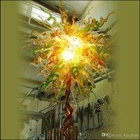 Новое прибытие Чихули Рука выдувное стекло люстры светильники Тиффани Стиль Рот выдувного стекла с 110V-240V светодиодные лампы для Фойе Decor