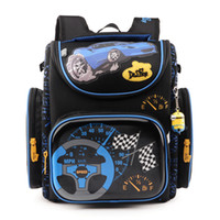 New Boys School Bags Backpack Blue Car Yellow Plane children...
