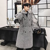 Autumn New Korean version of the Vintage Woolen Coat Lazy Te...