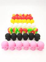 3ml Schädelbehälter Farbe sortiert Silikonbehälter für Tupfer Runde Form Silikonbehälter Wachs Silikongläser Tupfen Behälter