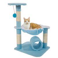 28 дюйма Cat Tree Tower Condo Мебель царапания Post Pet Play Hollob Держатель альпинистская активность Центр баранины зеленая Бесплатная доставка