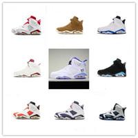 free shipping 1d690 d5c67 2019 Hot Jumpman 6 UNC PE Goldene VI Ernte Weizen Basketball Schuhe Hohe  Qualität Billig Verkauf