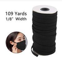 109 ярдов длина DIY плетеная резинка шнур вязаная Лента шитье широко используется для масок 3 мм 4 мм 5 мм