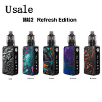 VooPoo Drag 2 Refresh издание Kit с 4,5 мл PnP Pod Tank Pnp-VM5 PnP-VM6 Катушки 177W Drag 2 Box Mod 100% оригинал