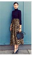 Womerns Designer Gonne leopardo stampato con pannelli Gonne svago urbano stile casual Plius Size femminile Abbigliamento Estate