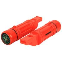 Hot Multifuncional Mini Apito 5 Em 1 Equipamentos de Camping À Noite Escalada Kit de Sobrevivência Gadgets Com Compass Espelho Equipamentos