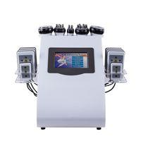 Le plus bas 2colors 6in1 40k ultrasons liposuccion Cavitation 8 Pads LLLT lipo Laser Slimming Machine à vide RF Soins de la peau Salon Équipement Spa
