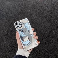 Suitable for iPhone 11Pro XS MAX Creative rhombus Silver Mob...