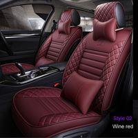 أغطية مقعد السيارة العالمي لفورد مونديو Focus Fiesta Edge Explorer Taurus S-Max F-150 إكسسوارات السيارات Full (Front + Rear)