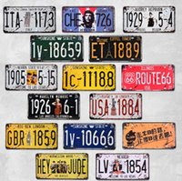 6x12inch Collection Collection De Signes En Métal Vintage (71Styles) Route 66 Plaque D'immatriculation De Voiture Plaque Affiche Bar Club Mur Garage Garage Décoration de La Maison