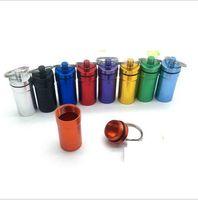 최신 방수 담배 캔 헤드폰 차 스토리지 박스 알약 케이스와 키 체인 반지 병 금속 알루미늄 합금 3 개 스타일 다채로운 선택