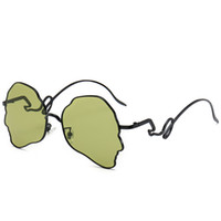 Forma de la cara creativa personalidad gafas de sol gafas de decoración hombres y mujeres gafas de sol marea Visera Anti-UV Halloween Party Supplies regalo