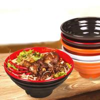 50 قطعة / الوحدة 8 بوصة رامين السلطانية الكورية مطعم ياباني استخدام كبير حساء الميلامين المعكرونة وعاء المائدة الأرز الغذاء الحاويات