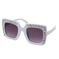 Rhinestone crianças óculos de sol quadrado óculos de sol crianças óculos de sol meninos meninas feminino 95aB
