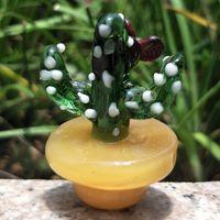 Casquette en glucides en verre coloré pour 2 mm de quartz Thermal P Quartz Verre Verre Verre Eau Pipe Bubblers Smoke Accessoire
