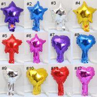 12 стилей 5 дюймов в форме сердца и звезды алюминиевой фольги шар Свадебные украшения партия Поставки гелием воздушный шар