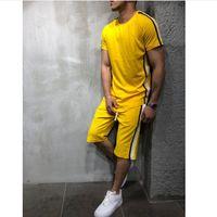 디자이너 남성 운동복 새로운 남성 여름 운동복 티셔츠 반바지 2 개 의류 캐주얼 스포츠 힙합 스트리트 정장