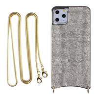 casse del telefono di lusso per iPhone Pro 11 Max XS XS XR MAX 8 7 plus con modo della catena cordino posteriore della copertura del telefono Cover Designer Bling custodia morbida