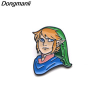 P3287 Wholesale 20pcs lot The Legend of Zelda Link Enamel Pi...