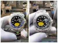 Super N Factory V9 Versión 904L 40mm 2 Color Mens Automation Cal.3186 Ver Reloj Azul Negro Cerámica GMT Batman Relojes Dive 116710 Relojes de pulsera